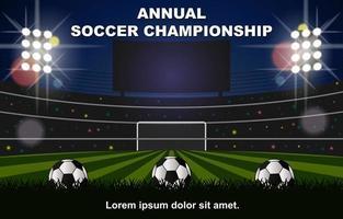 jährlicher Hintergrund der Fußballmeisterschaft vektor