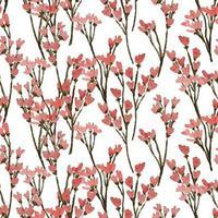 Aquarell Wildblume Blumen nahtloses Muster vektor