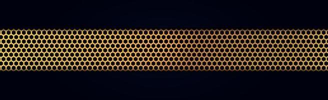 perforerad guldmetall banner vektor