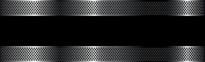 svart perforerat järn med vita reflektioner vektor
