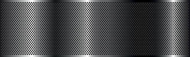 silverperforerat järn med vita reflektioner vektor