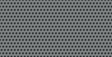 grauer perforierter Hintergrund, viele der gleichen Löcher vektor