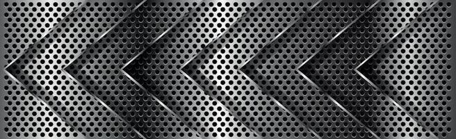silberne perforierte Pfeile aus Eisen mit weißen Reflexen vektor