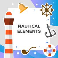 platt nautisk element vektor samling