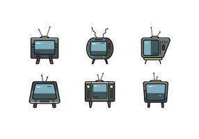 Retro TV Set Vector