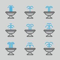 Umrissene Brunnen vektor