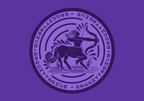 skytten centaur zodiac emblem vektor