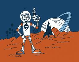 Weltraum-Ranger vektor