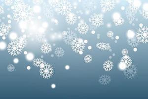 fallender Schnee auf dunkelblauem Hintergrund vektor
