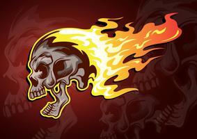 Flammande skalle