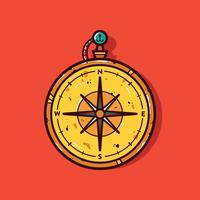 Vintage Kompass Vektor