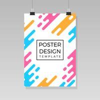 Platt affischsmall med gradient bakgrundsvektor vektor