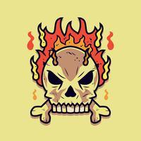 Flammender Schädel