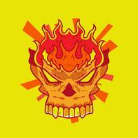 Flammande skalle vektor