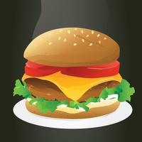 Realistische Burger-Vektor-Design vektor