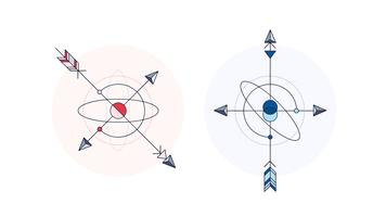 Kompass Tattoo Vektor