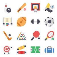 Icon-Set für Sport- und Fitnesselemente vektor