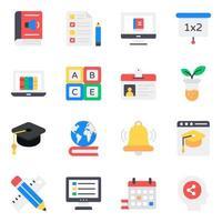 Icon-Set für Lern- und Bildungselemente vektor