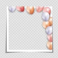 Party Urlaub Fotorahmen Vorlage für Post in sozialen Netzwerk. Vektorillustration eps10 vektor