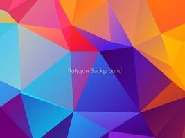 bunter Hintergrund des abstrakten polygonalen Dreiecks vektor