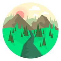 Landschaftsdesign vektor