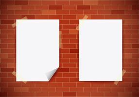 Mock Up Realistic White Poster vektor