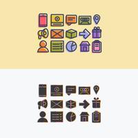 Vektor-bunte Icon-Set