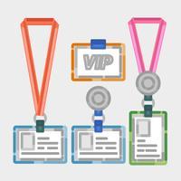 Vektor Vip Pass Outline Illustration