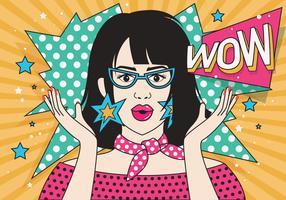 Frauen-moderner Pop-Art-Vektor vektor