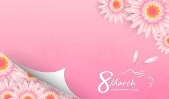 8 mars lycklig kvinnadagbakgrund eller banerdesign. eps10 vektorillustration. vektor