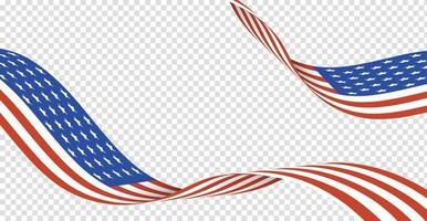 4. Juli Hintergrunddesign mit realistischen Flaggenelementen. eps10 Vektorillustration. vektor