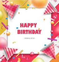 Alles Gute zum Geburtstag Hintergrund oder Banner. eps10 Vektorillustration. vektor