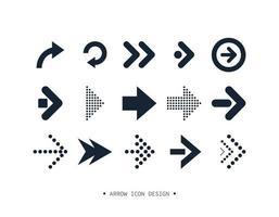 Pfeil Symbol Sammlung Design. vektor