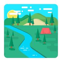 Camping i naturen vektor