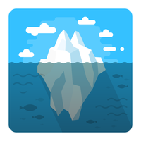 Schwimmender Eisberg vektor