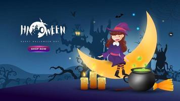 Halloween Hintergrund Design. glücklicher Halloween-Tagesvektor. vektor