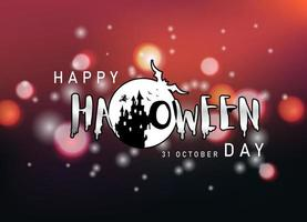 halloween bakgrundsdesign. glad Halloween dag vektor. vektor