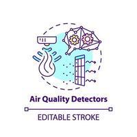 luftkvalitetsdetektorer konceptikon vektor