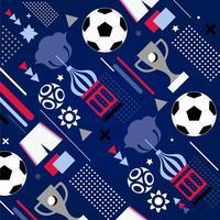 Vektor-Fußball-Weltcup-Muster-Hintergrund