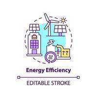 energieffektivitet koncept ikon vektor