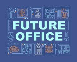 framtida office word koncept banner vektor
