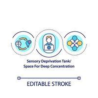 sensorisk deprivation tank koncept ikon vektor