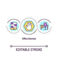 office död koncept ikon vektor