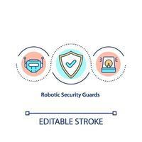 robot säkerhetsvakter koncept ikon vektor