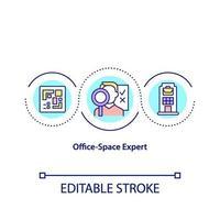 kontor-utrymme expert koncept ikon vektor
