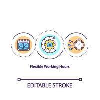 flexibel arbetstid koncept ikon vektor