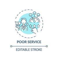 schlechtes Servicekonzept Symbol vektor