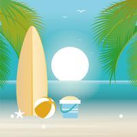 Vektor-schöne Sommer-Illustration vektor