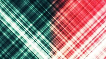 grüner und roter Technologiehintergrund, High-Tech-Digital- und Kommunikationskonzeptdesign, freier Platz für Text vektor