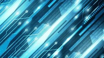 Digitale Cyber-Technologie auf zukünftigem Hintergrund, High-Tech-Digital- und Kommunikationskonzeptdesign, freier Speicherplatz für Text vektor